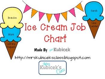 Ice Cream Job Chart