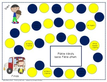 Ice Cream Kids GameBoards - Addition and Subtraction Practice