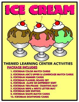 Ice Cream Kit One  - Themed Learning Center Activity Kit