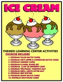 Ice Cream Kit One  - Themed Learning Center Activity Kit
