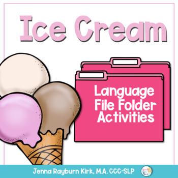 Ice Cream Language File Folder Games