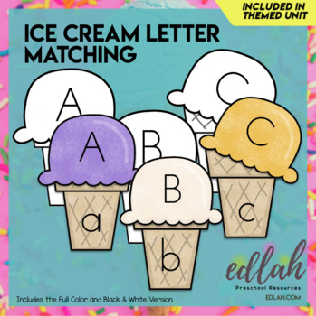 Ice Cream Letter Case Matching-Summer Fun