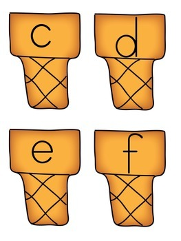 Ice Cream Letter Match