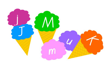 Ice Cream Letter Match Up