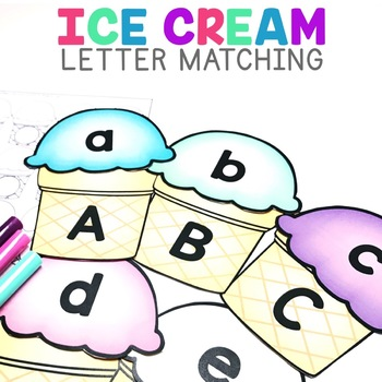 Ice Cream Letter Matching | Letter Matching Uppercase and Lowercase