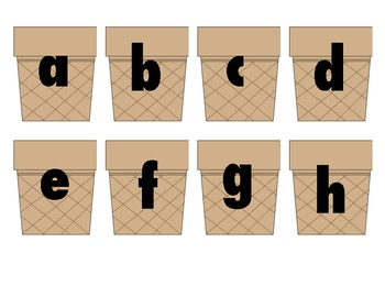 Ice Cream Letter Matching: Capital and Lower Case