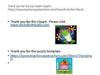 Ice Cream Letter Puzzles