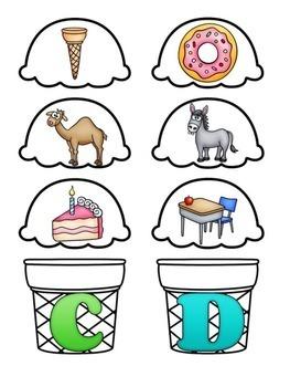 Ice Cream Letter Sound Match