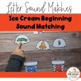 Multi-Sensory, Printable, Ice Cream Letter Sound Match