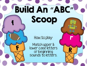 Ice Cream Letter & Sounds Match