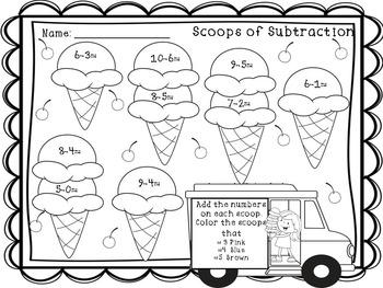 Ice Cream Literacy and Math Fun Pack