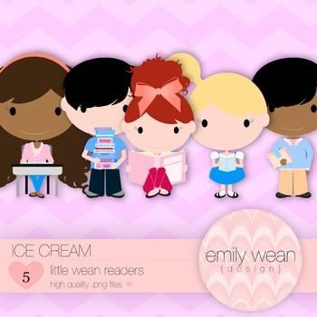 Ice Cream - Little Readers Clip Art