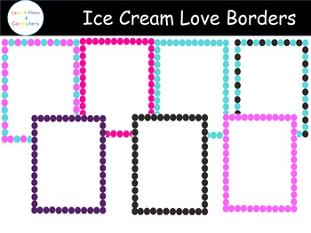 Ice Cream Love Frames