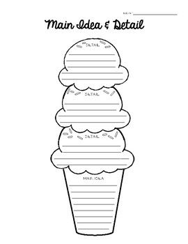 Ice Cream Main Idea Teaching Resources Teachers Pay Teachers