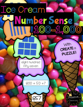 Ice Cream Match Numbers to 1,000 - Build Number Sense!