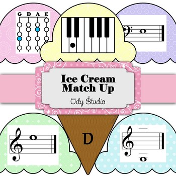 Ice Cream Match Up- Violin and Piano