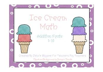 Ice Cream Math Addition Center