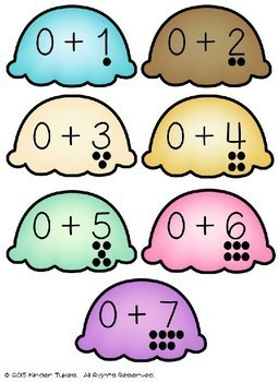 Ice Cream Math Center Game (2 games in 1)