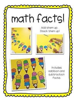 Ice Cream Math Centers