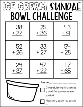 Ice Cream Math Challenge {EDITABLE}