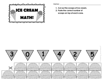 Ice Cream Math - Counting, Sorting, and Patterns