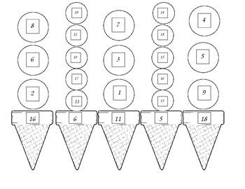 Ice Cream Math Dice Game