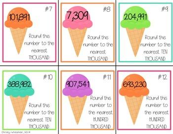 Ice Cream Math & ELA Centers for Upper Elementary
