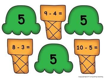 Math Fact Matching Games Bundle