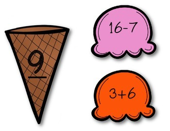 Ice-Cream Math Freebie