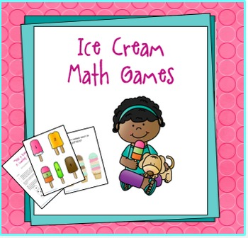 Ice Cream Math Games for Preschool or Kindergarten