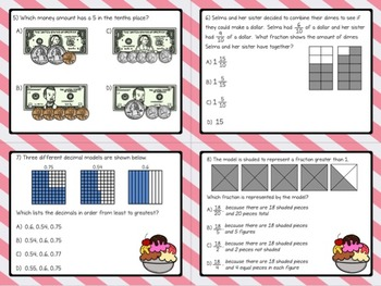 MATH TEST PREP: Decimals, Fractions, and Number Lines