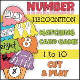 Number Recognition 1-10 Matching Game