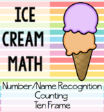 Ice Cream Math Matching - Ten Frames, Counting, Numbers 0-20