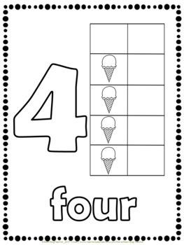 Ice Cream Math - Number Practice 1 - 10