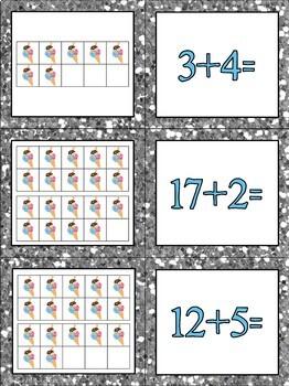 Ice Cream Math Partner Cards!