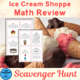 Ice Cream Math Review Scavenger Hunt