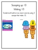 Ice Cream Math-Scooping Up 10