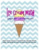 Ice Cream Math Sort - Single Digit Subtraction