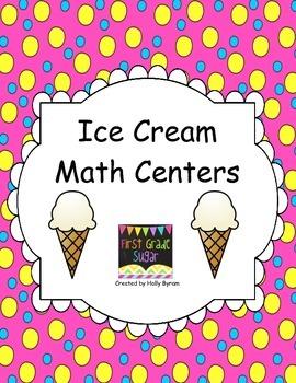 Ice Cream Math Workstations