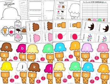 Ice Cream Math and Language Bundle