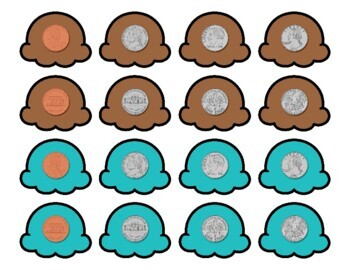 Ice Cream Money and Coins Stacking Puzzles