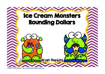 Ice Cream Monsters Rounding to the Nearest Dollar Task Cards