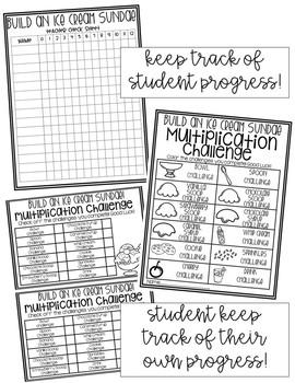 Ice Cream Multiplication Challenge {EDITABLE}
