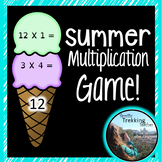 Ice Cream Multiplication (Times Tables) Game