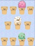 Ice Cream Multiplication x7 File Folder Game, Activity
