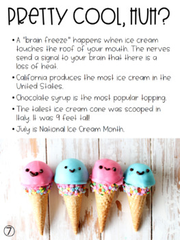 Ice Cream Nonfiction book and writing