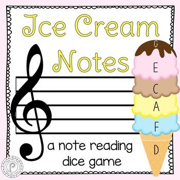 Ice Cream Notes: Grand Staff Spaces