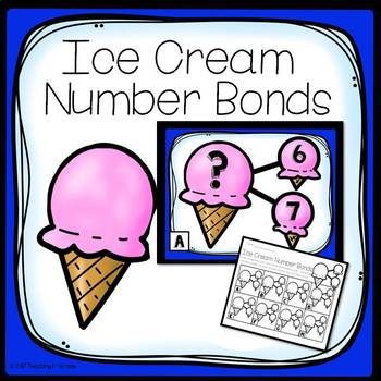 Ice Cream Number Bonds- Write the Room