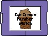 Ice Cream Number Match 1-10 File Folder
