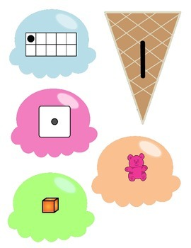 Ice Cream Number Match (1-5)